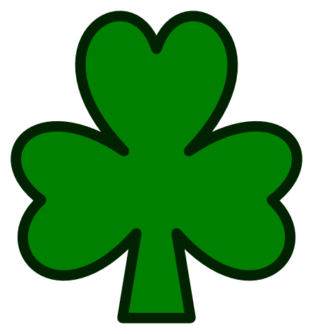 444x474 Clip Art Saint Pattys Shamrock Flower