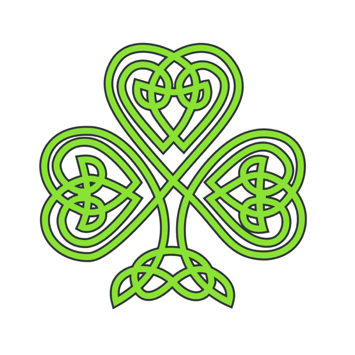 700x700 Clipart Of Shamrocks And Four Leaf Clovers