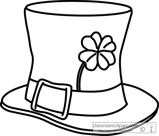 550x471 Holiday Clipart St Patricks Day Hat Outline 2131