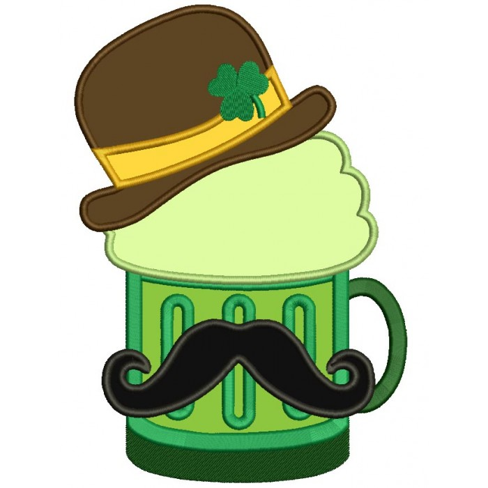 700x700 Irish Beer With Mustache