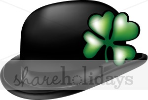 300x203 Irish Bowler Hat Clipart St Patrick's Day Clipart