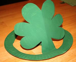 300x247 Paper Plate Shamrock Hat All Kids Network