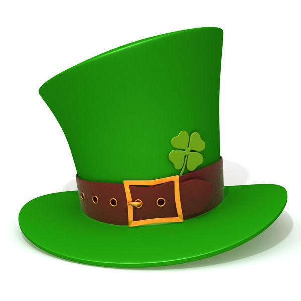 600x600 St Patricks Day Hat 3d Cgtrader
