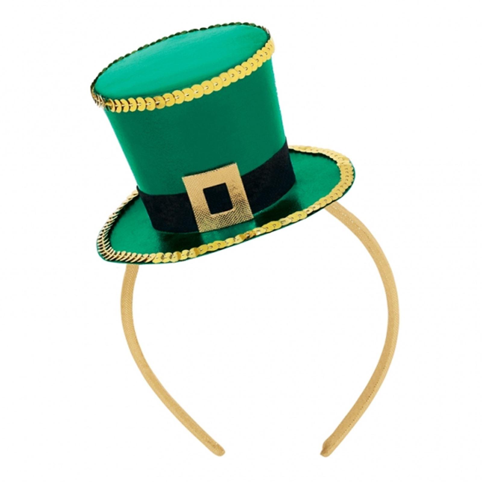 1600x1600 St. Patrick's Day Wig Fancy Headband Bopper Top Hat Leprechaun