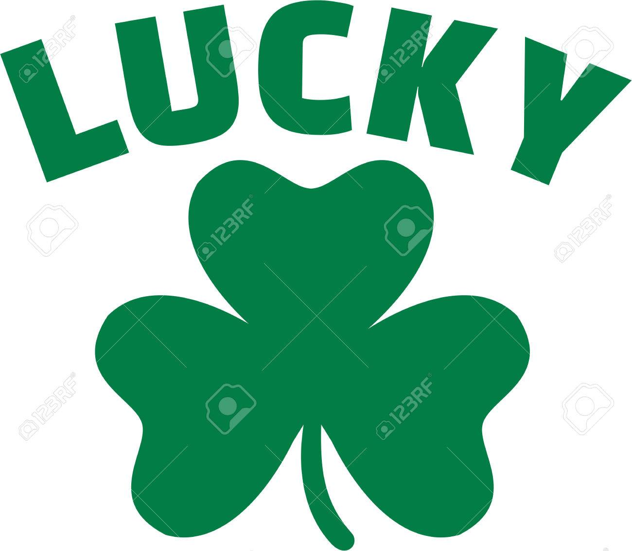 1300x1133 St. Patrick's Day Icon With Lucky Shamrock Royalty Free Cliparts