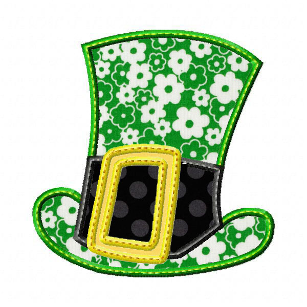600x600 St. Patty's Day Hat Applique