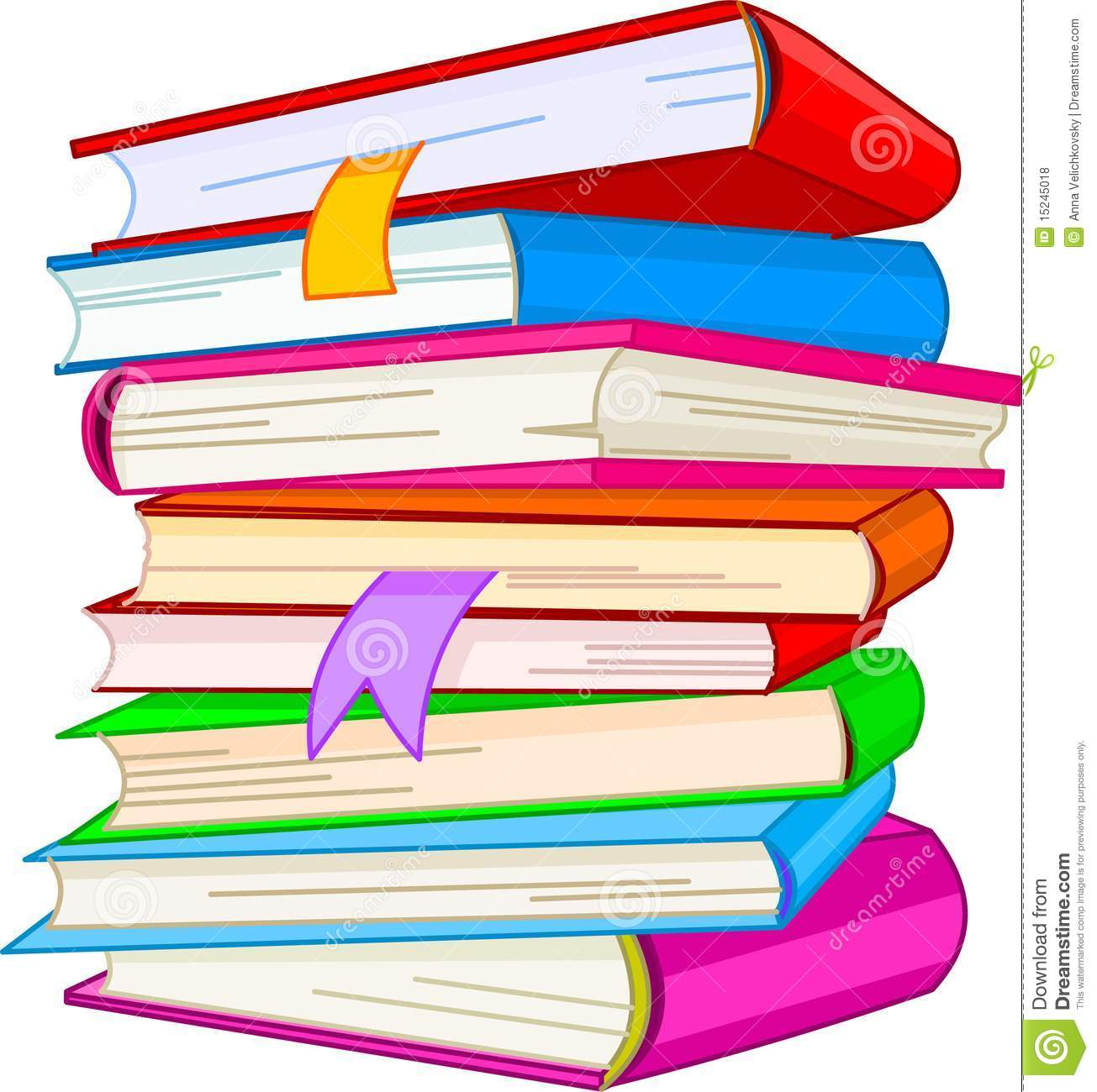 Books colorful PNG File.