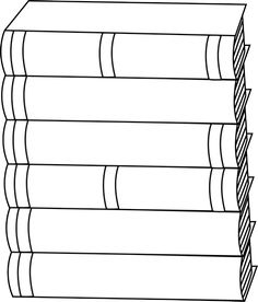 Stack Of Books Clipart Black And White