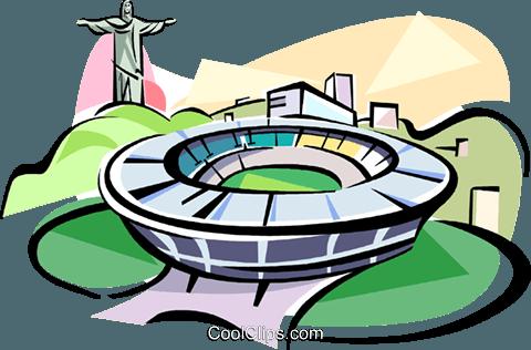 480x316 Brazil Maracana Stadium Rio De Janeiro Royalty Free Vector Clip