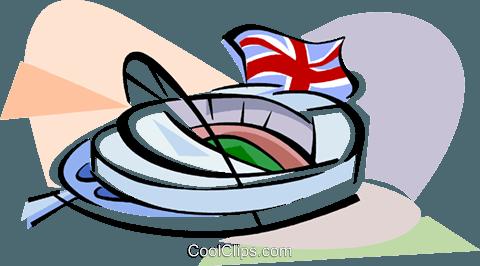 480x266 New Wembley Stadium Royalty Free Vector Clip Art Illustration