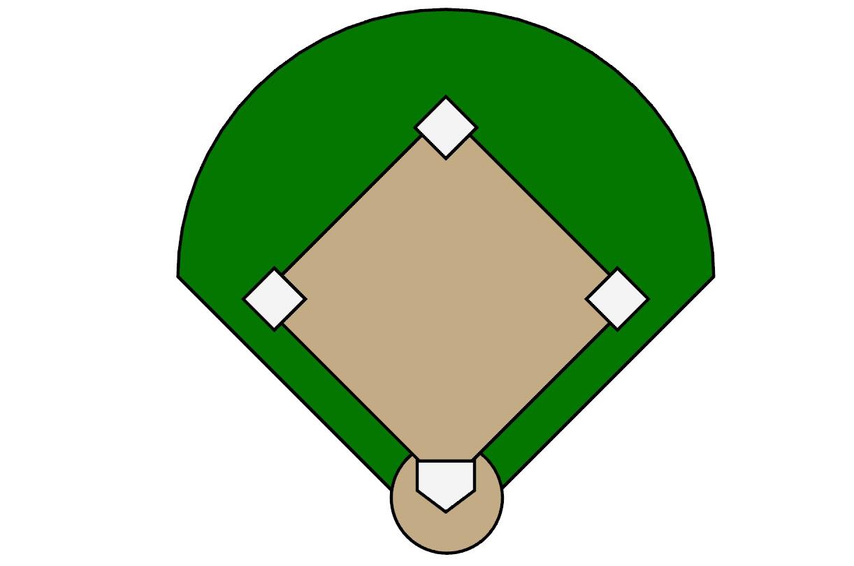 1222x810 Stadium Clipart Kickball Field