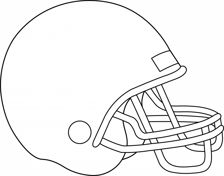 728x572 Vector Of A Cartoon Football Rhino Running Coloring Page Outline