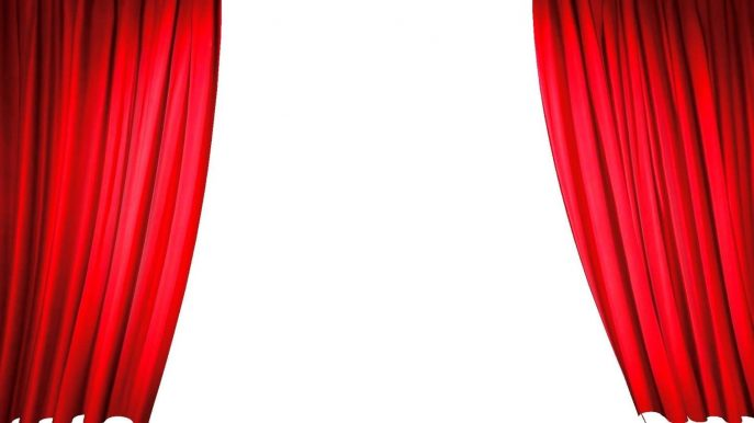 687x386 Curtains Royalty Free Vector Design Clip Blue Theater Curtains