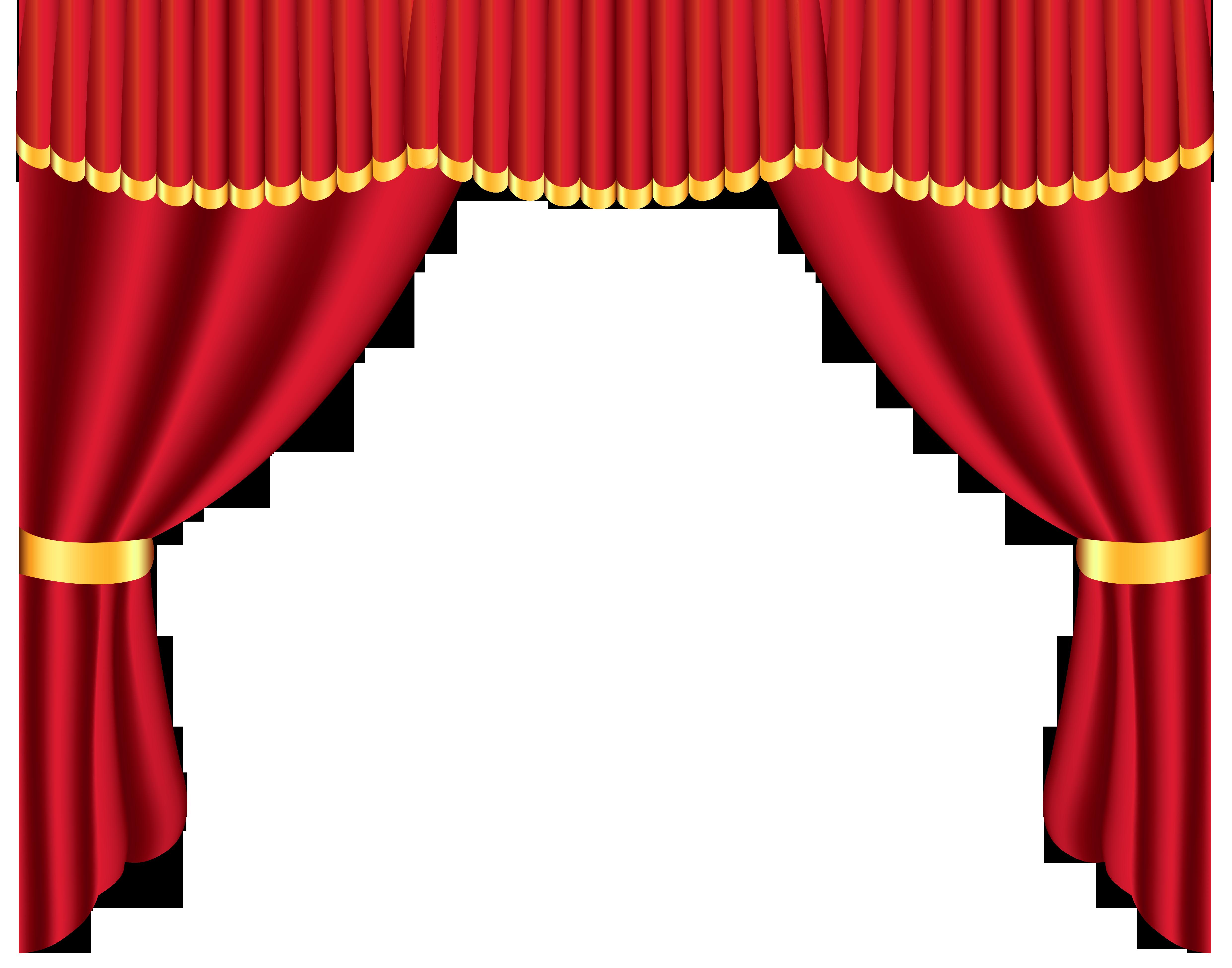 4964x3901 Curtains Clipart