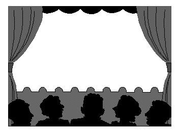 352x261 Drama Stage Clipart