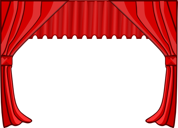 600x431 Red Stage Curtains Clip Art