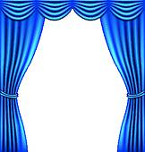 162x170 Stage Curtain Clip Art