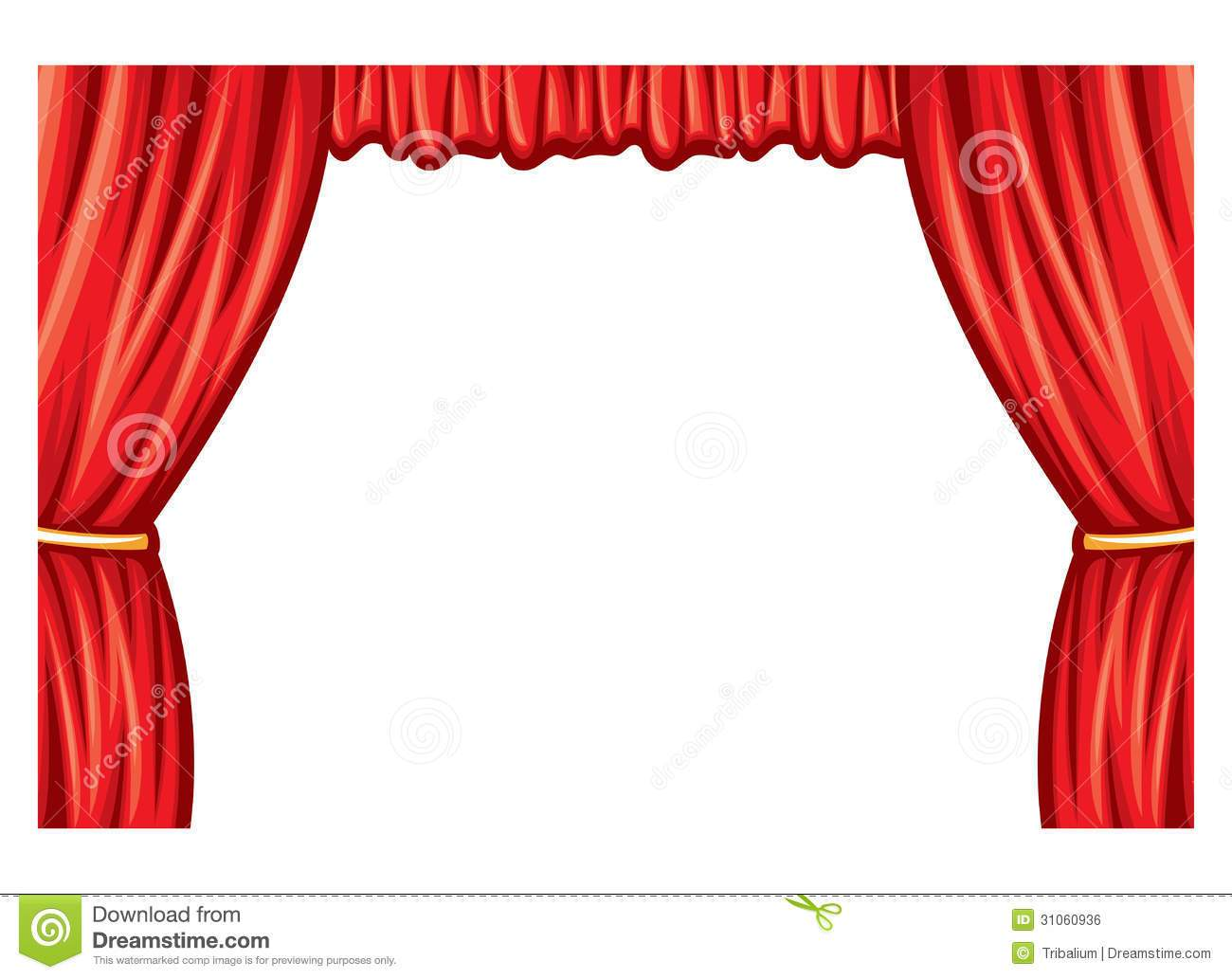 1300x1033 Stage Curtains Clipart