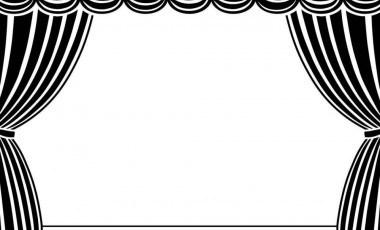 380x230 Theatre Curtain Clipart