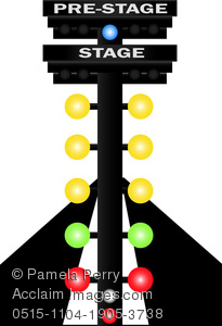 205x300 Clip Art Illustration Of A Drag Racetrack With Stage Lights