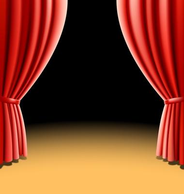 380x400 Clipart Theatre Curtains