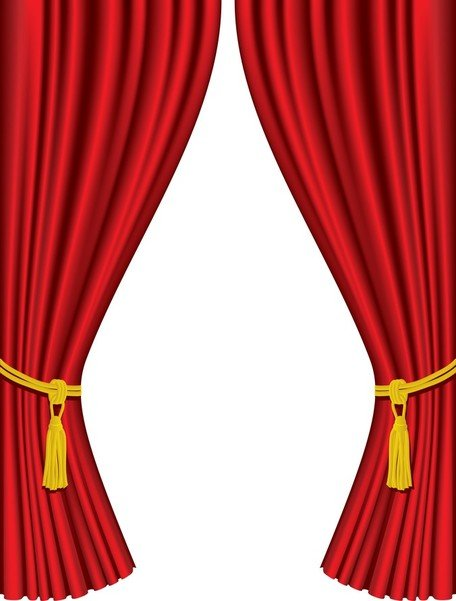 456x601 Stage Curtain Clip Art, Vector Stage Curtain