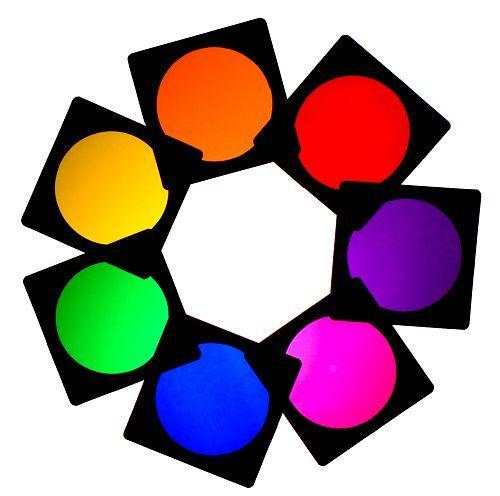 500x496 7 X Lighting Filter Colour Gel Pack Par 64 Theatre Club Stage Tv