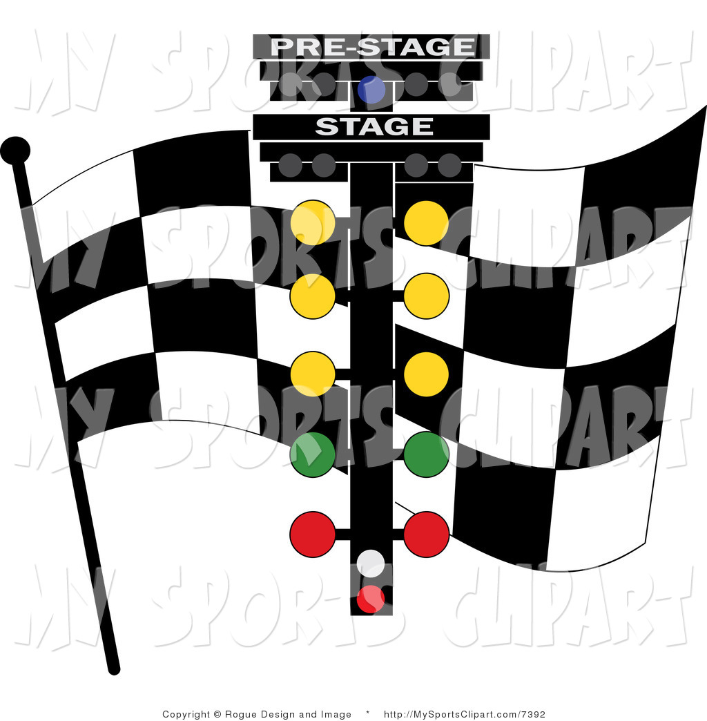 1024x1044 Sports Clip Art Of A Checkered Flag And Racing Lights By Pams