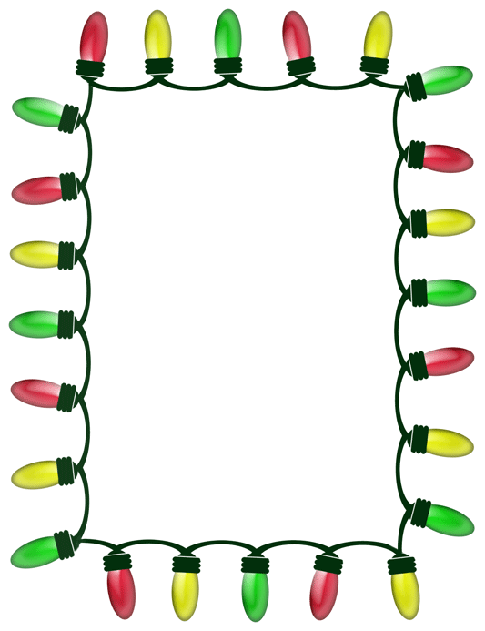 533x693 Christmas Light Bulb Clip Art Border