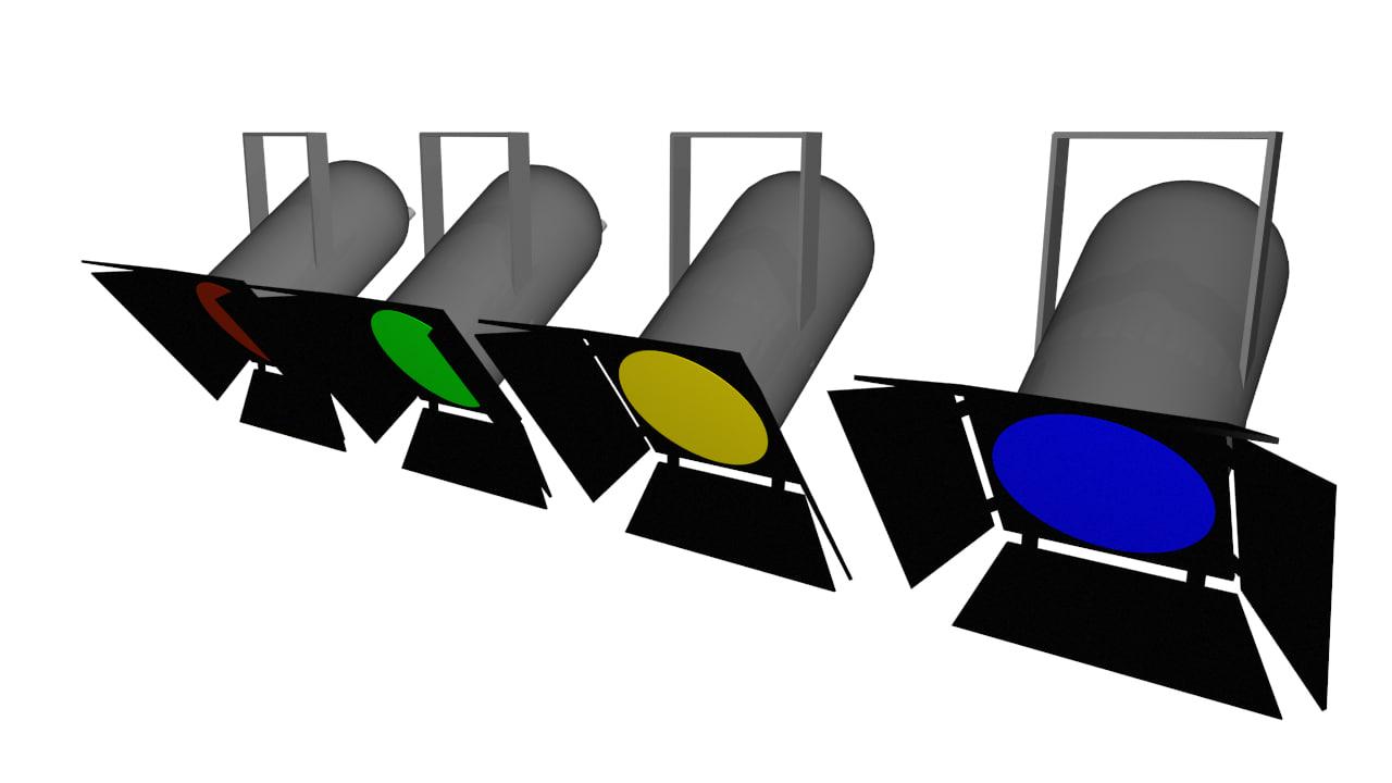 1280x720 Par Stage Light Model