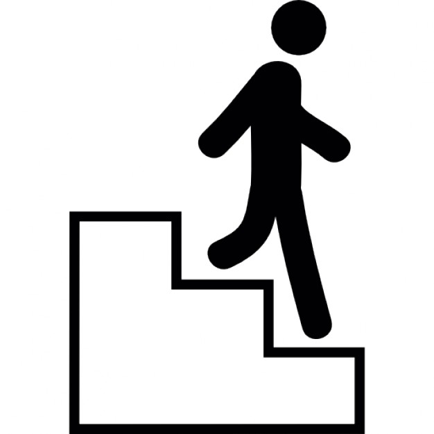 626x626 Clip Art Of Descending Stairs Clipart Free Download