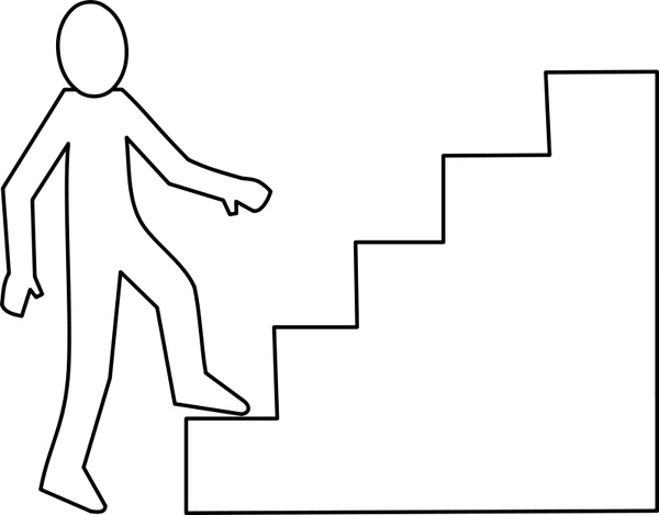 600x469 Escalier Staircase Free Vector In Open Office Drawing Svg ( Svg