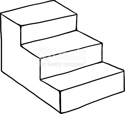 434x396 Stairs Clipart Three