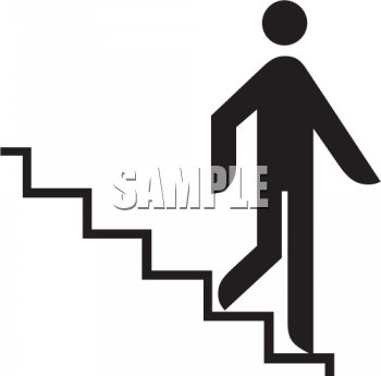 350x345 Walk Down Stairs Clipart