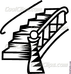 287x300 Stairs Vector Clip Art