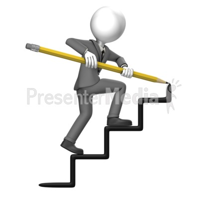 400x400 Business Man Draw Stairs