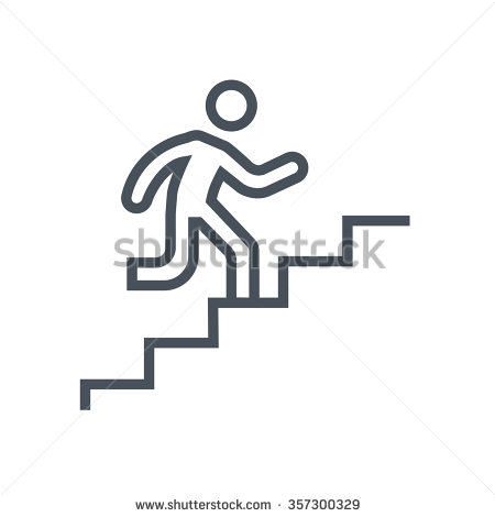 450x470 Stairs Clipart Icon