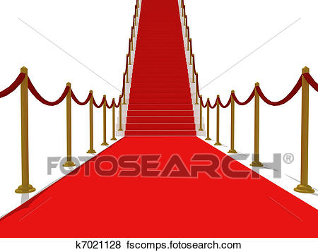 450x357 Stock Illustration Of Red Carpet Stairs
