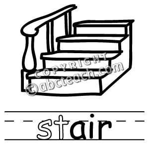 300x300 Clip Art Stairs Outline Staircase Gallery