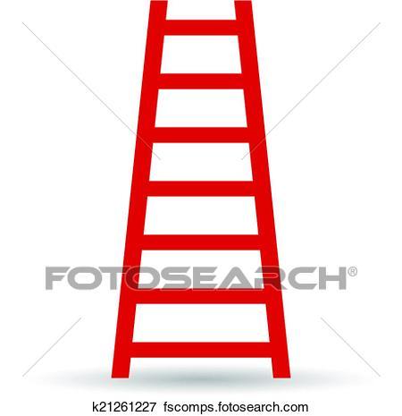 450x465 Clipart Of A Ladder K11678675