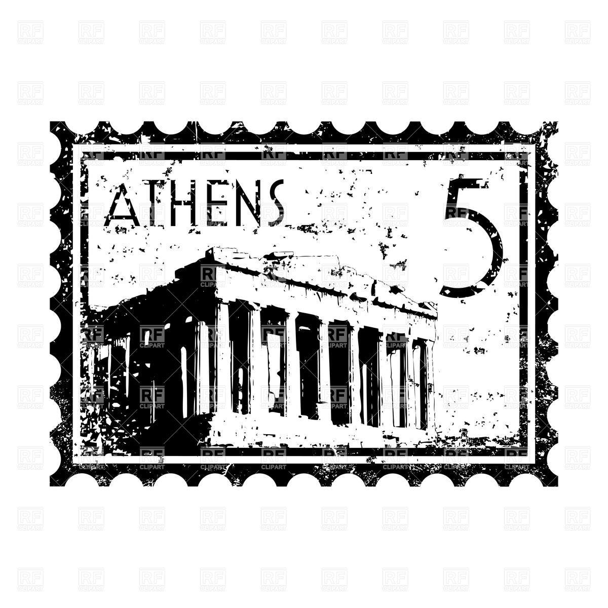 1200x1200 Vintage Postage Stamp Clip Art