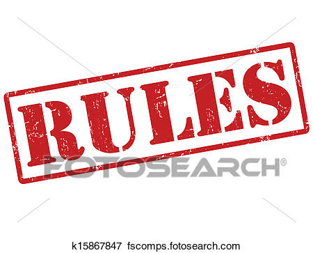 450x363 Clip Art Of Rules Stamp K15867847