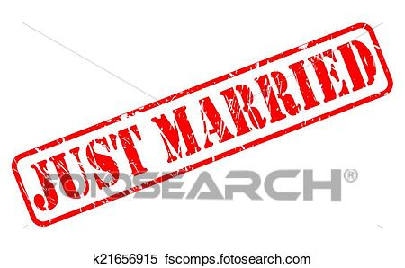 450x298 Clipart Of Just Married Red Stamp Text K21656915