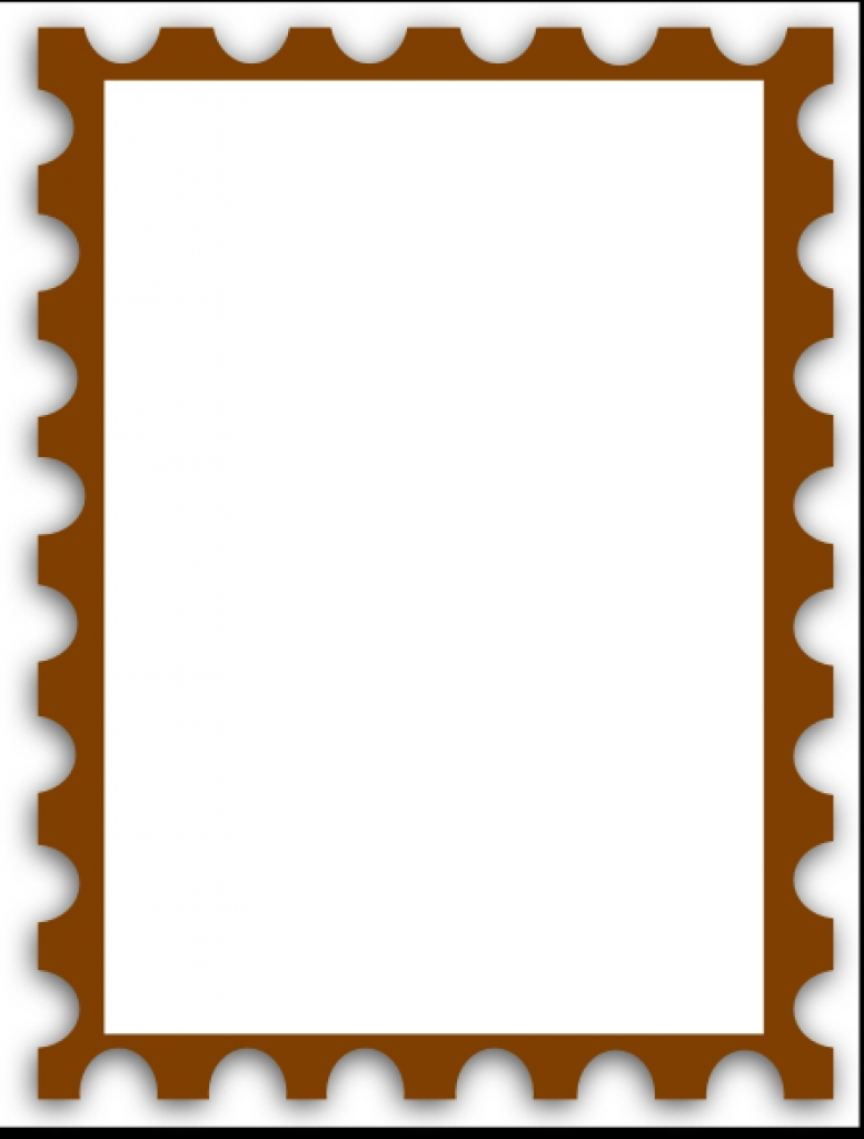 777x1024 Blank Postage Stamp Clip Art