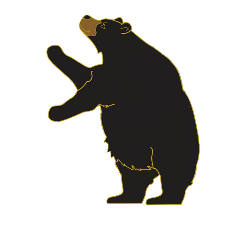 Bear standing. Clipart free download best