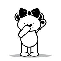 200x200 Teddy Bear Teddy Bears Outline Outlines Funny Humor Humour Clip