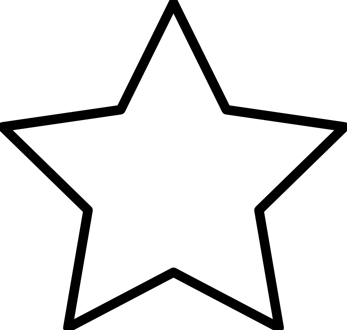 1331x1266 Star Clip Art Black And White Clipart Panda