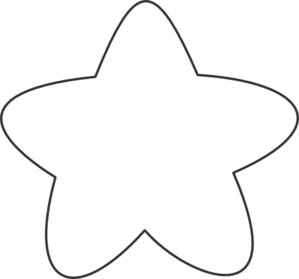 299x279 Star Black And White Clipart Template