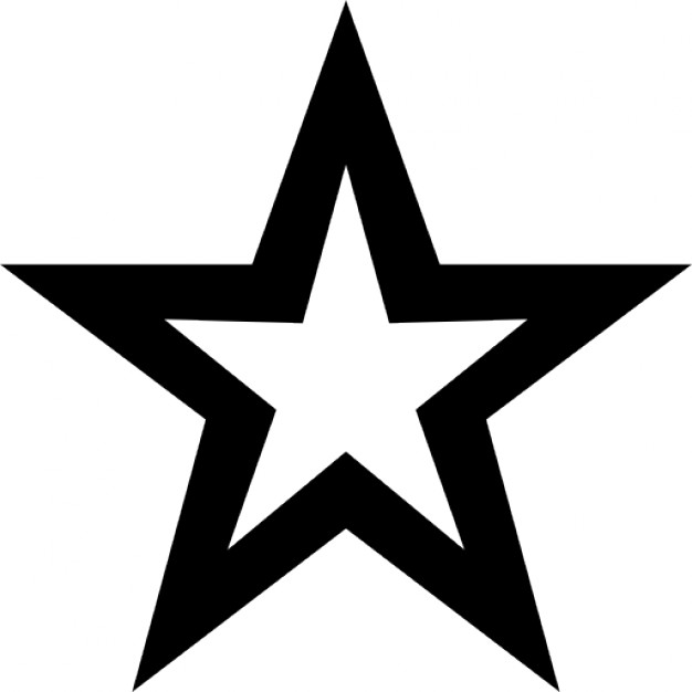 626x626 Star In Black And White Icons Free Download