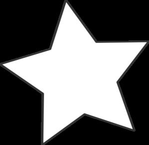 299x291 White Star Black Clip Art